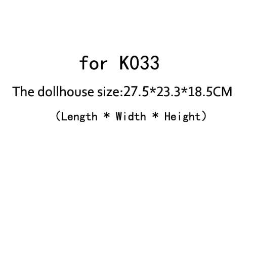 DIY Doll House Dust Cover for Miniatures Dollhouse  (for K033)