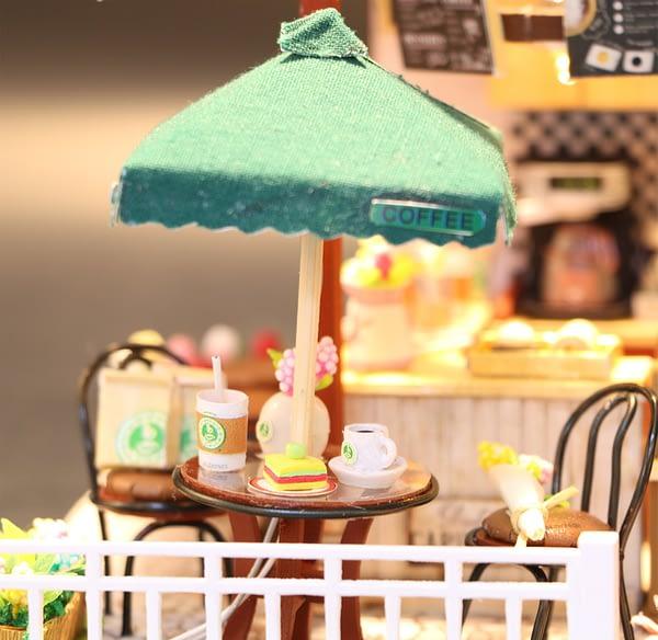 Coffee Time DIY Coffee House 3D Dollhouse Kit