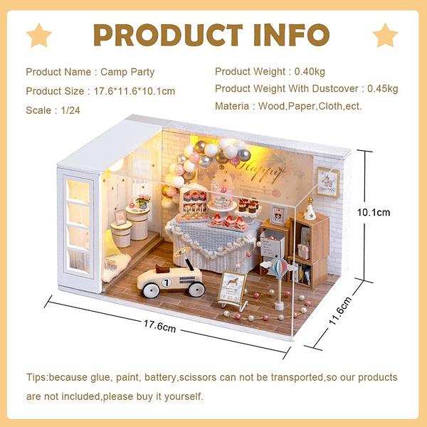 Camp Party DIY Miniature Room Kit - QT10A