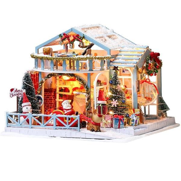 Christmas Snowy Night DIY Miniature House Kit - DIY017