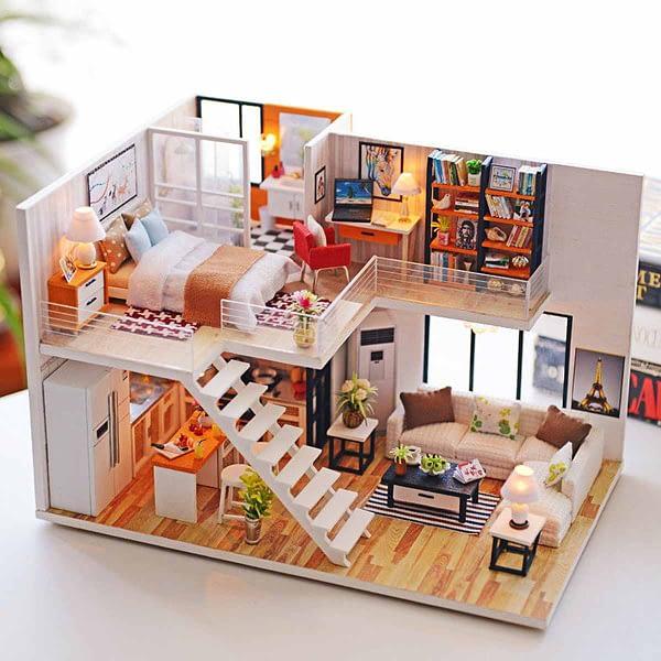 Happy Together DIY 3D Miniature Dollhouse Kit