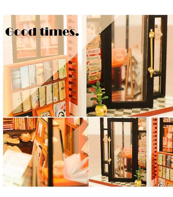 Book Store DIY Dollhouse Miniature Bookshop