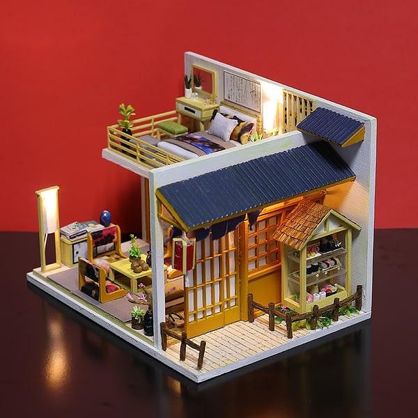 Japanese Plain Room DIY 3D Miniature Dollhouse Kit