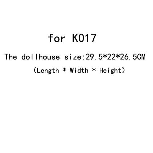 DIY Doll House Dust Cover for Miniatures Dollhouse  (for K017)