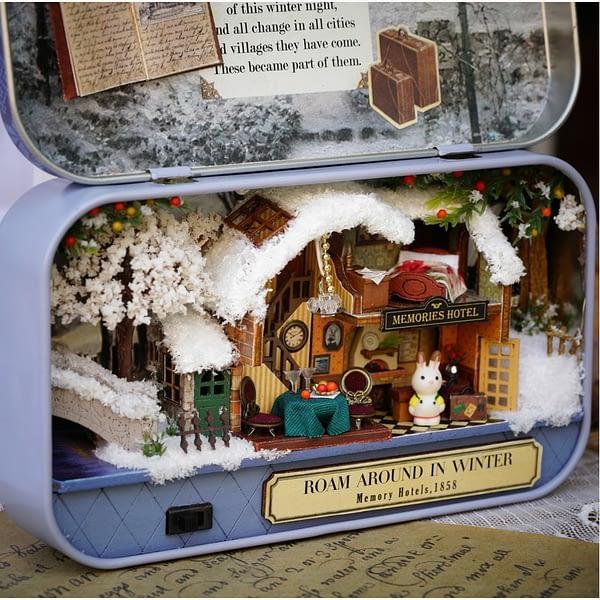 Roam Around in Winter Box Theatre DIY Dollhouse