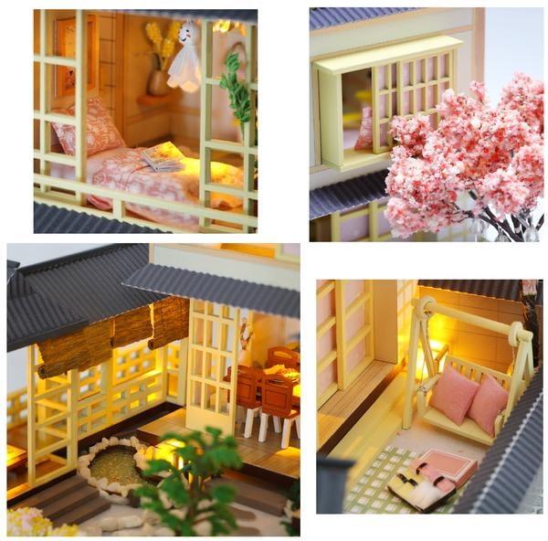 Japanese Garden Home DIY 3D Miniature Dollhouse Kit