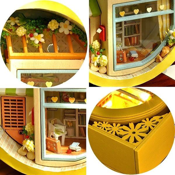 Flower Hollow Cute Lamp DIY Miniature Kit - DIY016