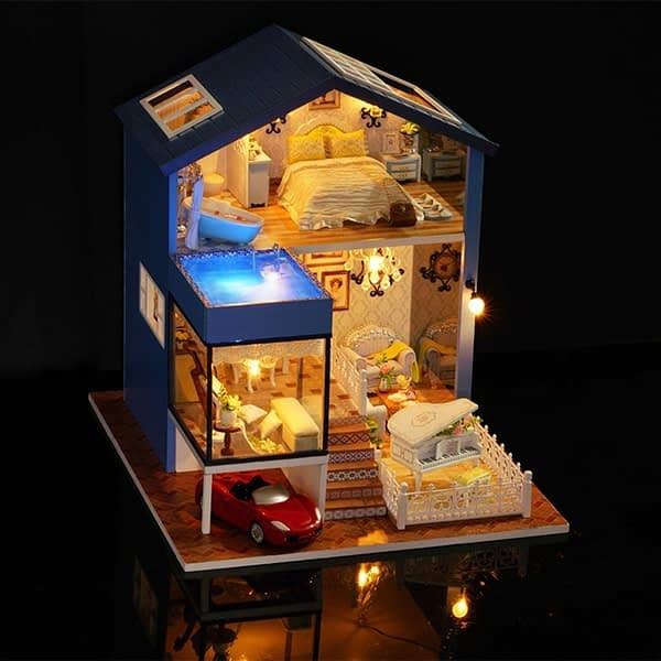 Secret Of Seattle DIY 3D Miniature Dollhouse Kit