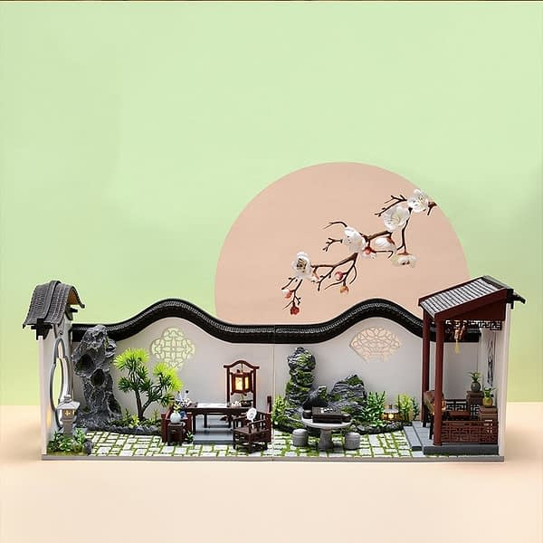 Chinese Courtyard DIY 3D Wooden Dollhouse Kit * 2 Styles