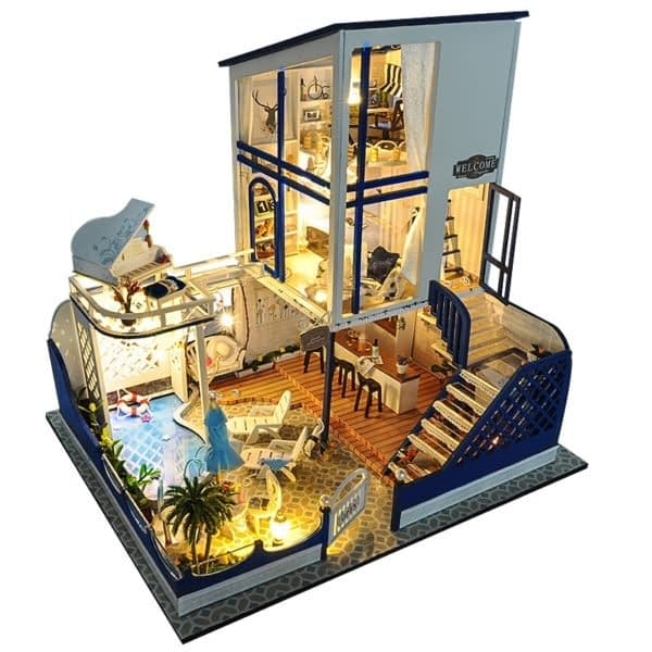 Crystal House DIY 3D Miniature House