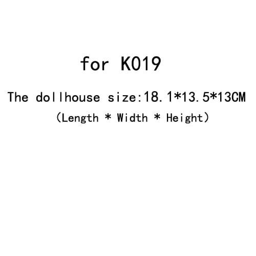 DIY Doll House Dust Cover for Miniatures Dollhouse  (for K019)