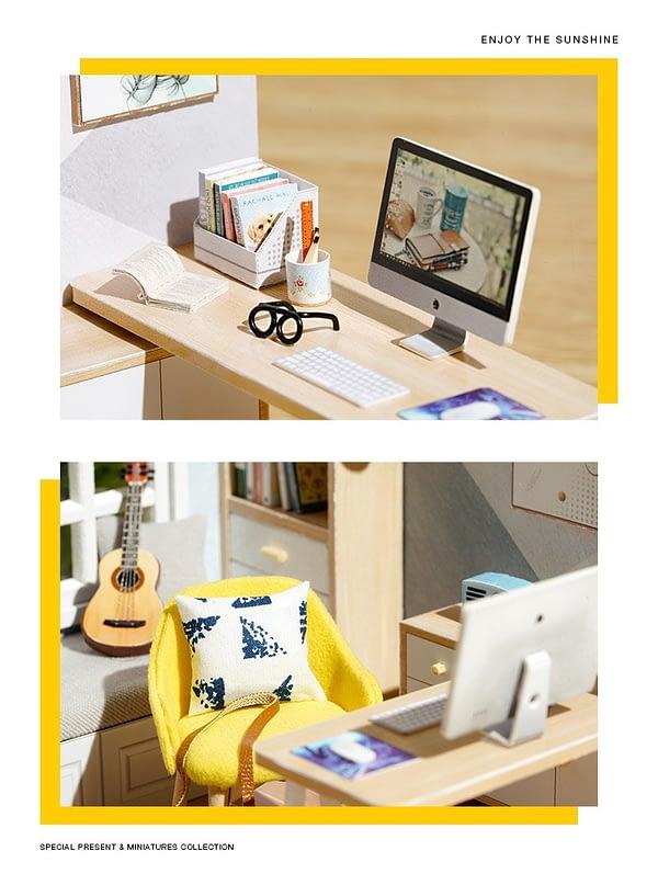 Sunshine Study DIY 3D Miniature Room Kit