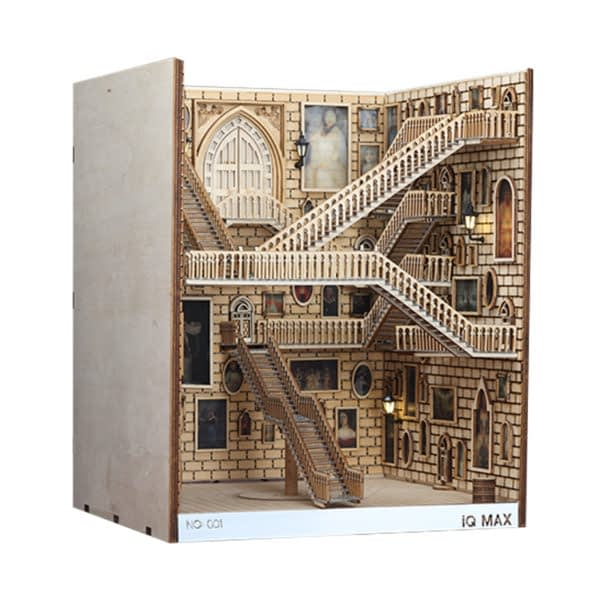 Spiral Stairs 3D Miniature Book Nook (Spiral Staircase)