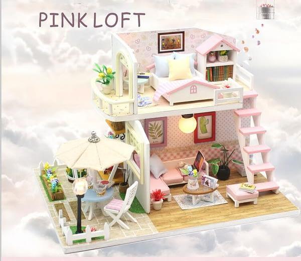 Pink Loft DIY Miniature Loft Kit - DIY018