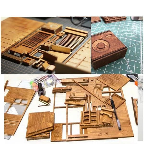 Street Rear Lane 3D Miniature Book Nook