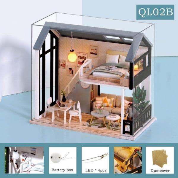 Meet Happiness DIY 3D Miniature Apartment