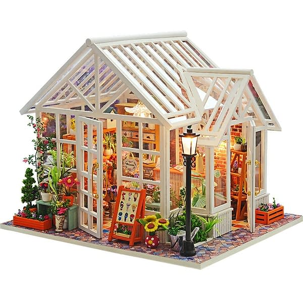 Sosa Florist DIY Miniature Dollhouse Kit