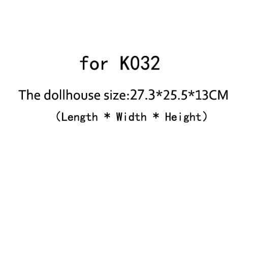DIY Doll House Dust Cover for Miniatures Dollhouse  (for K032)